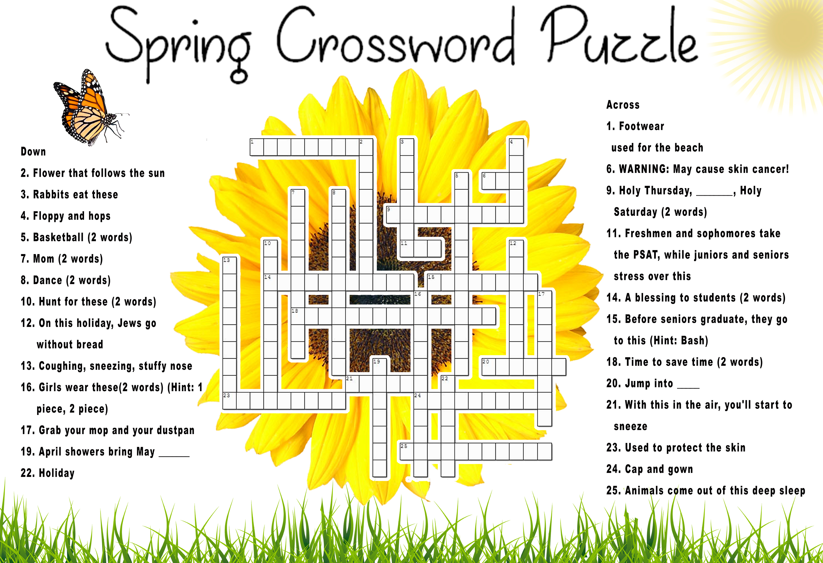 Jump Into The Spring Crossword Tornado Times