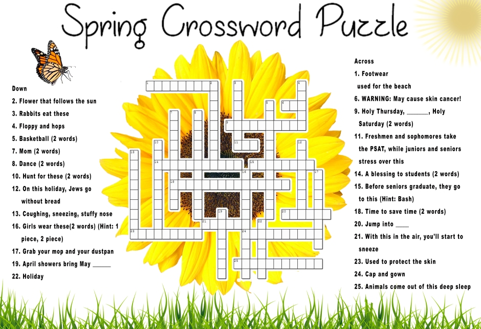 Spring Crossword Puzzle