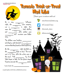 Tornados Trick-or-Treat Mad Libs