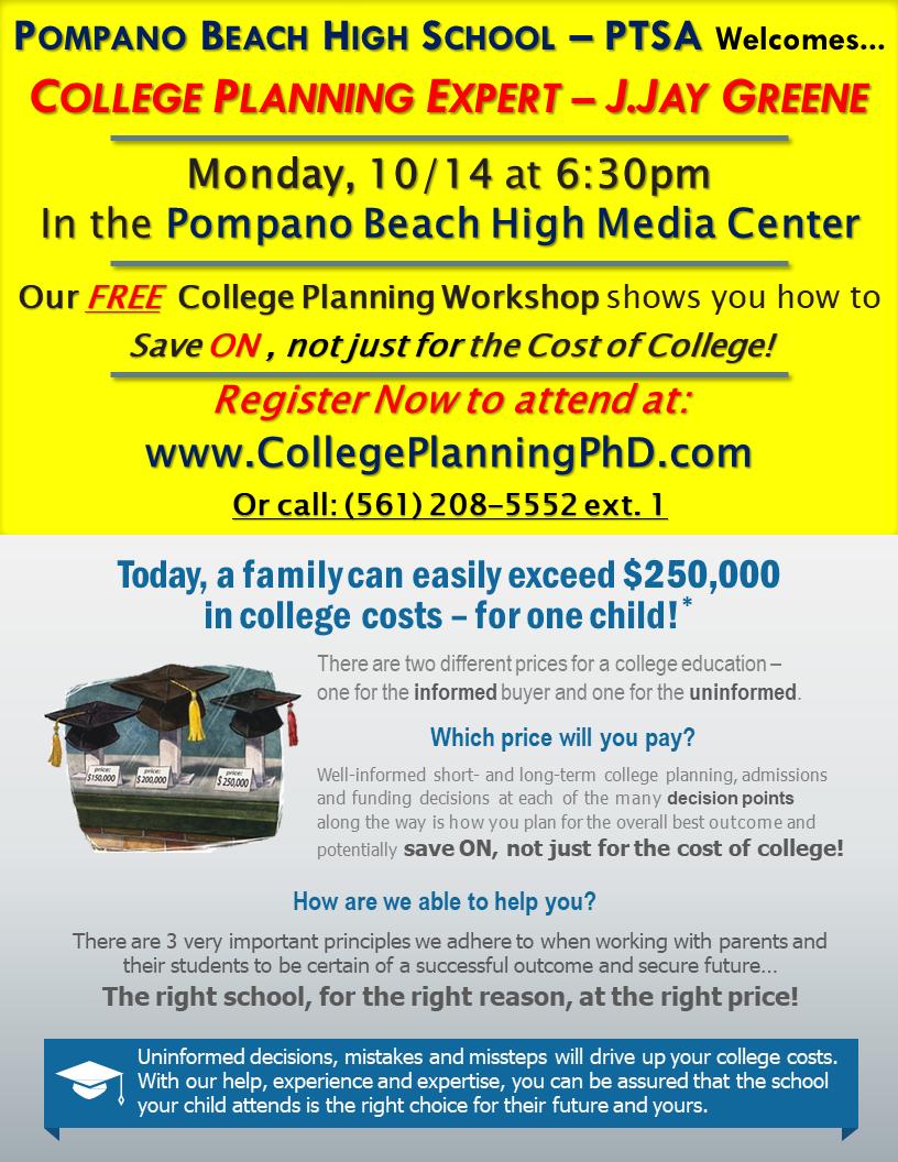 PTSA College Planning seminar